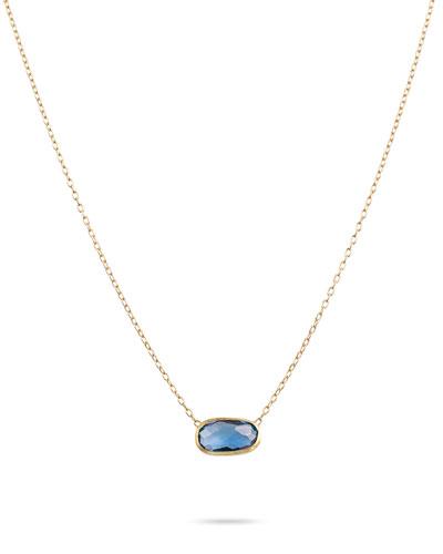 Delicati London Blue Topaz Pendant Necklace