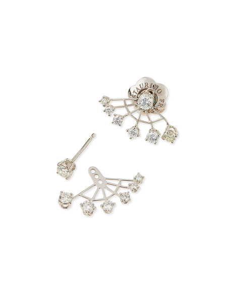 Spaghetti Six-Point Diamond Jacket Earrings