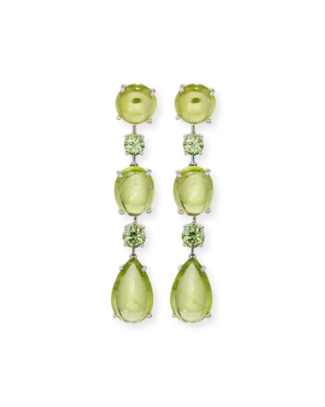Peridot & Demantoid Garnet Drop Earrings