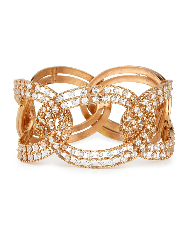 Staurino Fratelli Allegra 18k Rose Gold Diamond Bangle Bracelet XOK254O