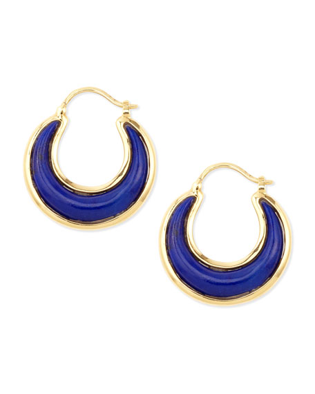 Syna 18kt Lapiz Lazuli Earrings qINZIt9ny