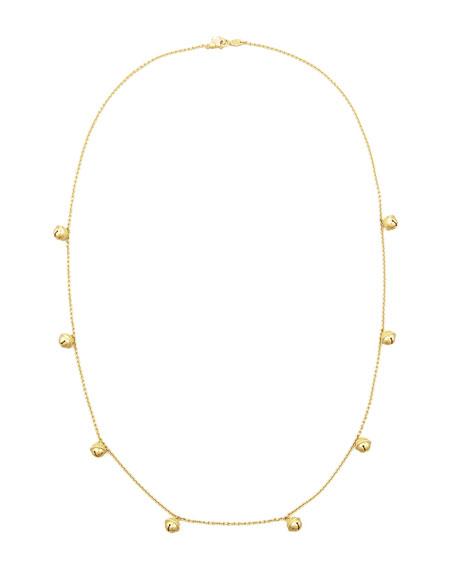 """18k Jingle Meditation Bell Necklace, 28""""L"""