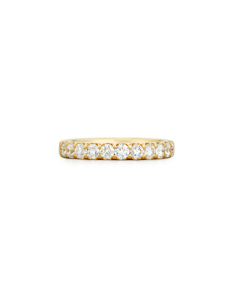 Diamond Band Ring in 18K Yellow Gold, 1.0 tdcw