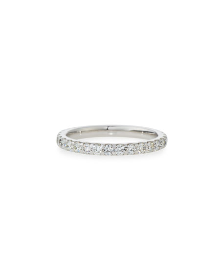 Diamond Eternity Band in 18K White Gold, 1.0 tdcw