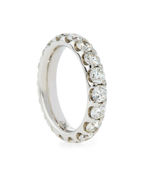 Diamond Eternity Band in 18K White Gold, 3.04 tdcw