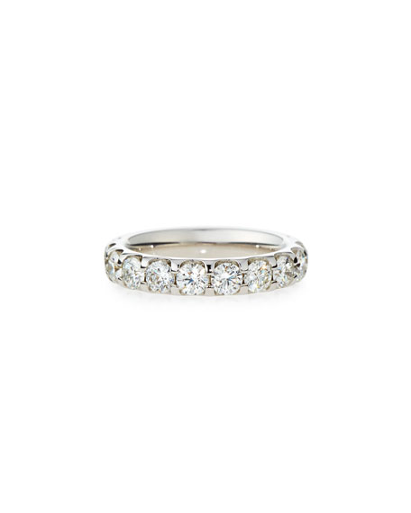 Memoire Diamond Eternity Band in 18K White Gold,