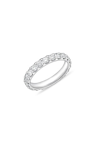 Memoire Diamond Eternity Band in 18K White Gold, 2.0 tdcw
