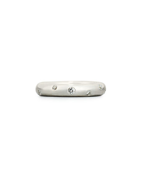 Stardust Diamond Ring in 18K White Gold, 0.3 tdcw
