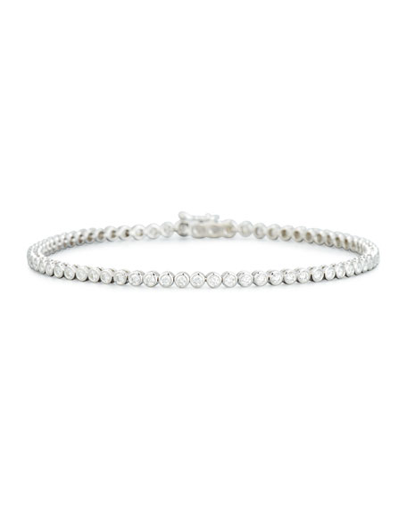 Diamond Bezel Line Bracelet in 18K White Gold