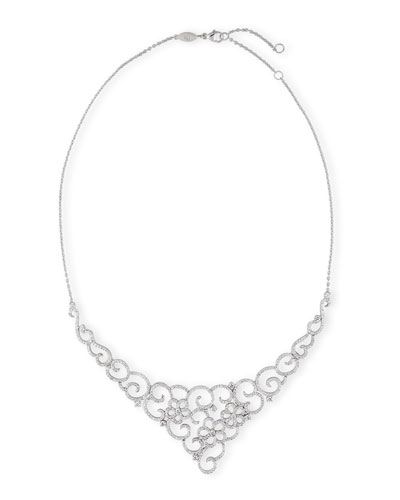 Garland Diamond Necklace in 18K White Gold
