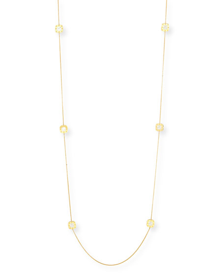 """Pois Moi 18k Mother-of-Pearl Station Necklace, 40""""L"""