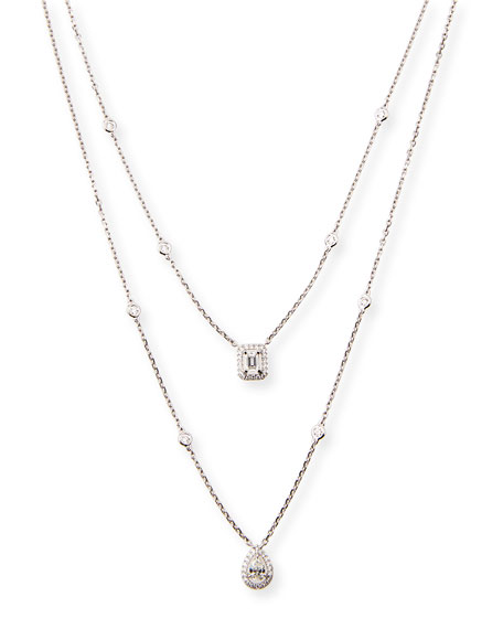My Twin Two-Strand Diamond Necklace