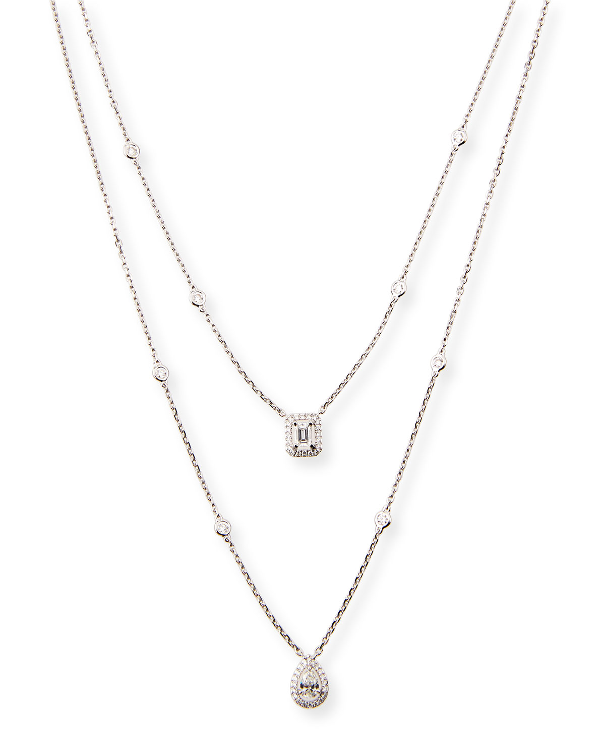 Messika My Twin Two-Strand Diamond Necklace aY6Ibs4A