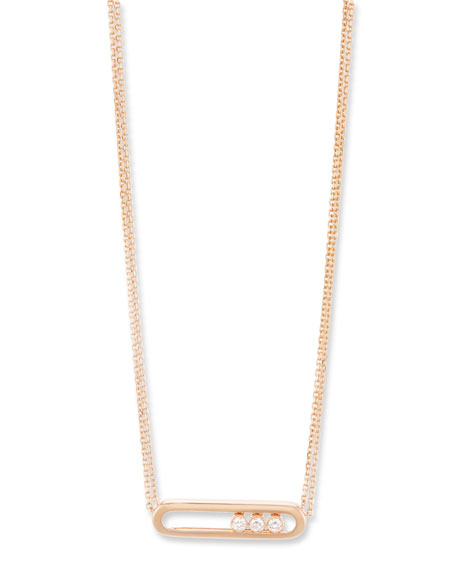 Messika Baby Move Diamond Necklace in 18K Rose