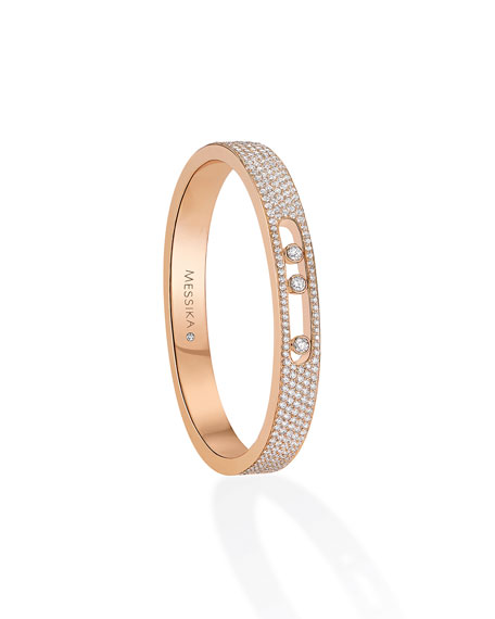 Move Diamond Bangle in 18K Rose Gold