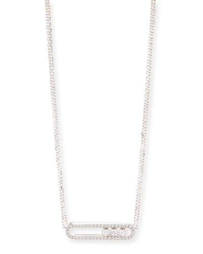 Move 18K White Gold & Diamond Necklace