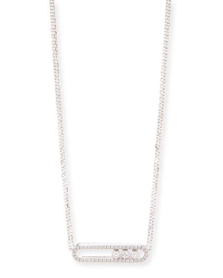Move 18K White Gold & Diamond Necklace