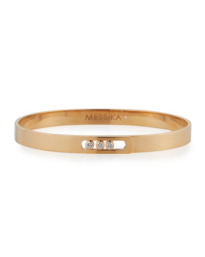 Move Noa Diamond Bangle Bracelet in 18K Rose Gold