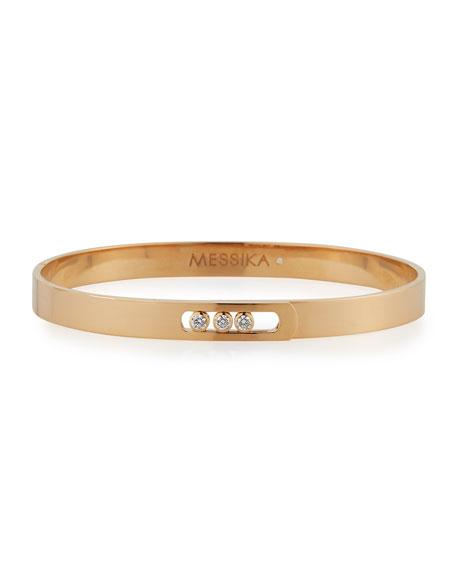 Move Noa Diamond Bangle Bracelet in 18K Rose Gold