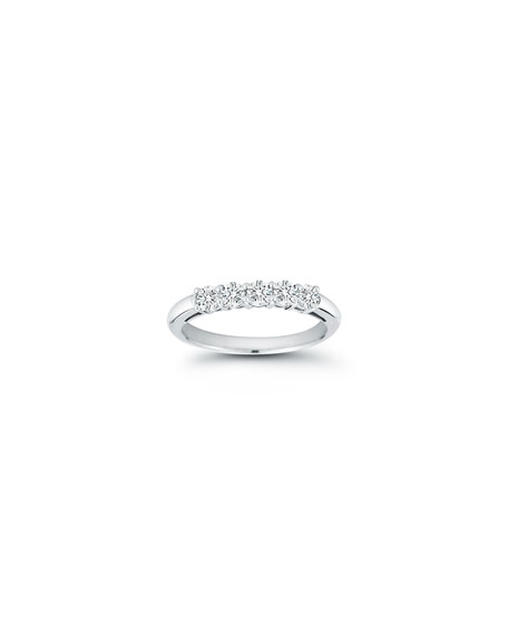 Five-Diamond Band Ring in Platinum, 0.55 tdcw, Size 6.75
