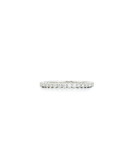 Diamond Eternity Band Ring in 18K White Gold, 0.66 tdcw, Size 7