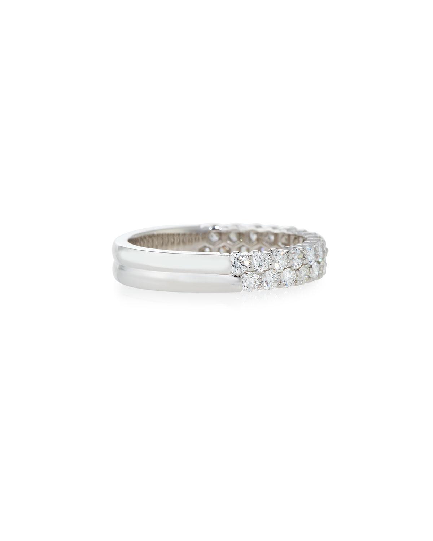 Memoire Diamond Band Ring in 18K White Gold, 1.5 tdcw