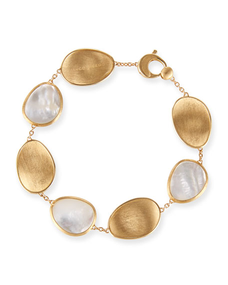 Lunaria Mother-of-Pearl Station Bracelet