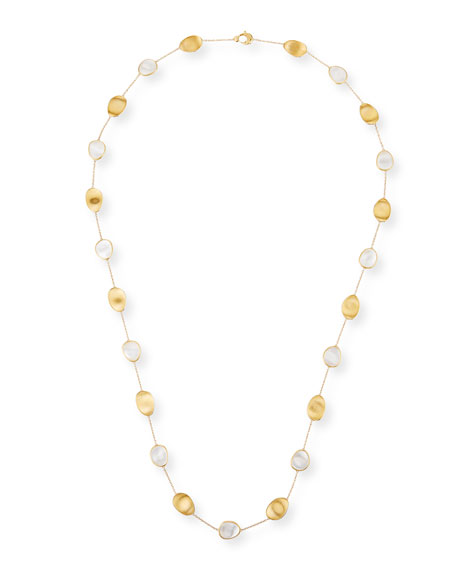 Lunaria Long Mother-of-Pearl Station Necklace, 36""