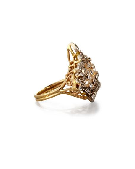 Diamond Coronet Ring in 14K Gold