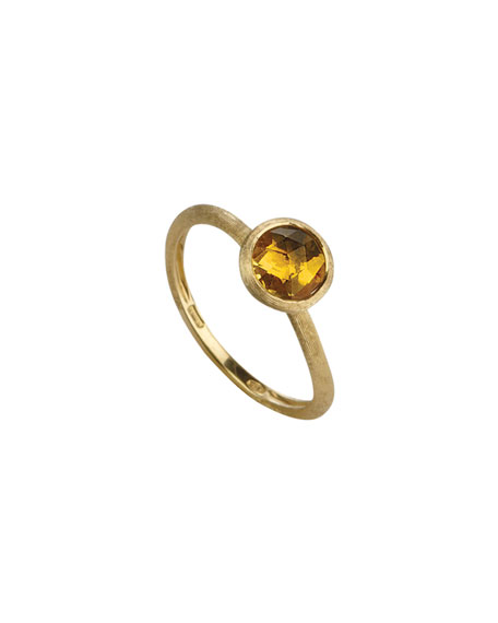 Jaipur 18k Gold Stack Ring in Citrine, Size 7