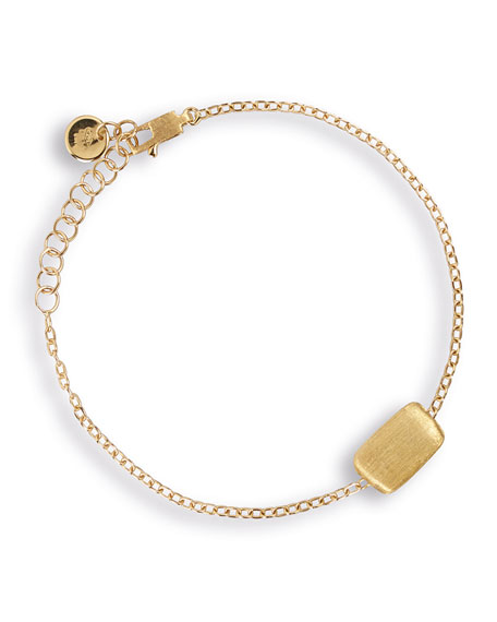 Marco Bicego Delicati 18K Gold Flat Rectangle Bead