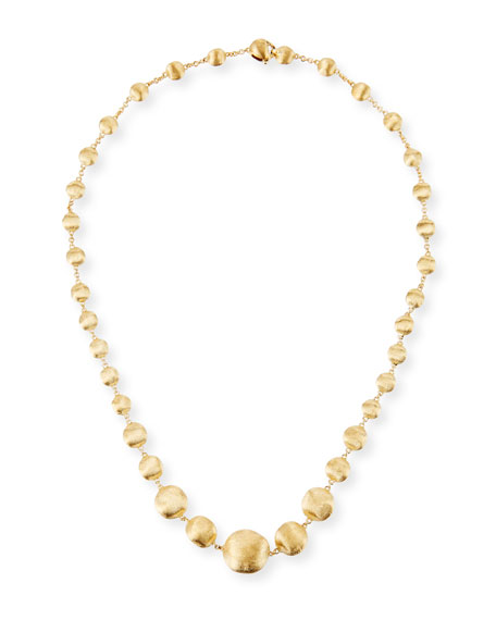 """Africa 18K Yellow Gold Necklace, 17"""""""