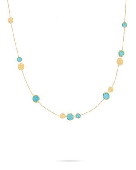 "Jaipur Turquoise Station Necklace, 18"""