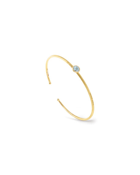 Jaipur 18k Bangle Bracelet w/ Blue Topaz