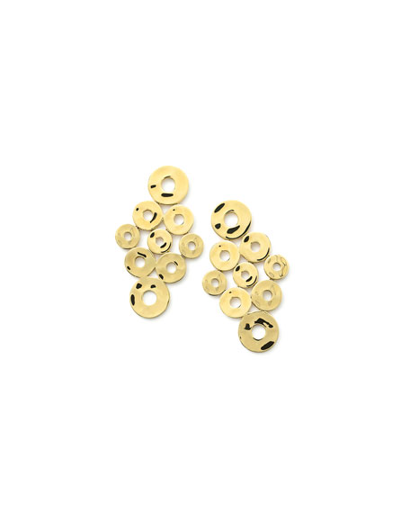 18K Senso™ Open Disc Cascade Earrings