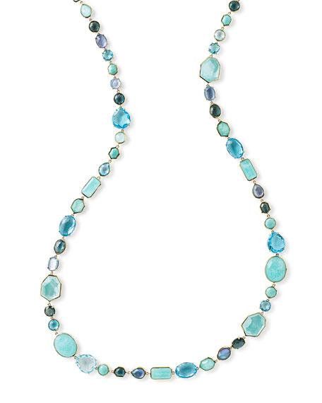 """Sophia 18K Necklace in Waterfall, 39.5""""L"""