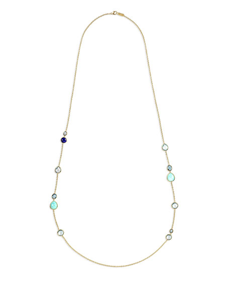 18K Rock Candy Gelato Hero Station Necklace in Waterfall, 40""