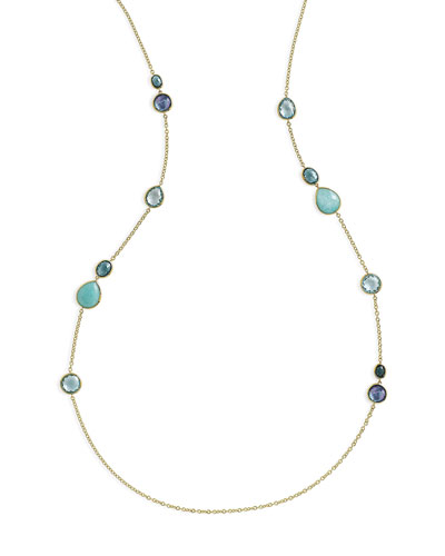 18K Rock Candy Gelato Hero Station Necklace in Waterfall, 40