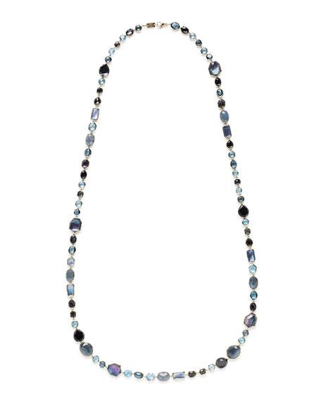 "18K Rock Candy Sofia Necklace in Midnight Rain, 39.5"""