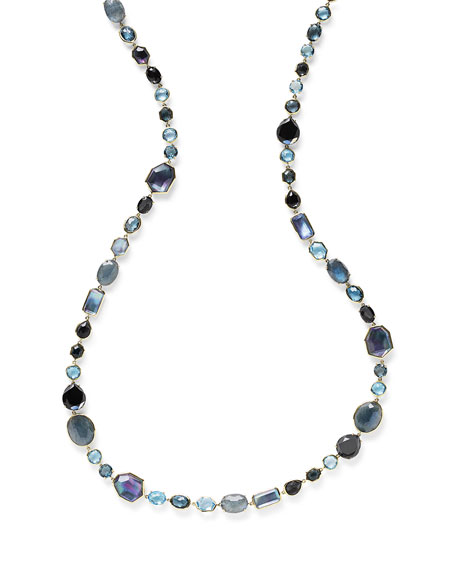 18K Rock Candy Sofia Necklace in Midnight Rain, 39.5""