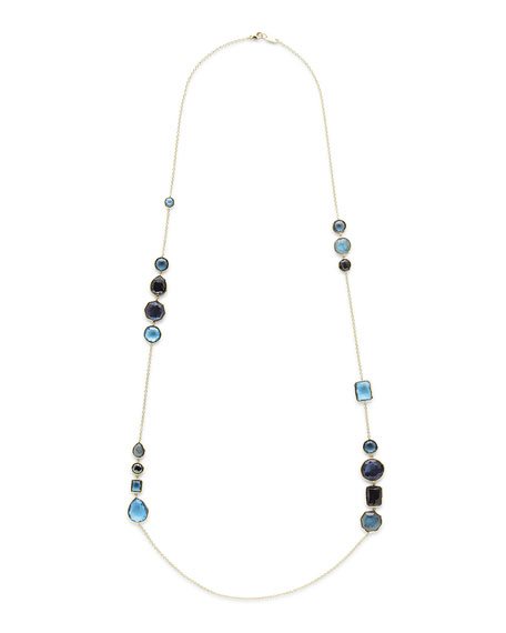 18K Rock Candy Gelato Hero Necklace in Midnight Rain, 42""