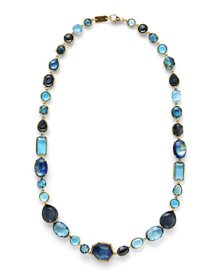 18K Rock Candy Sofia Necklace in Midnight Rain, 18""