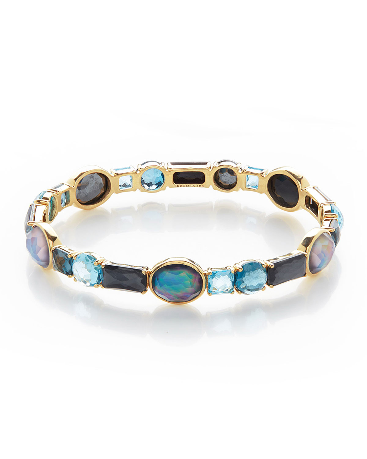 Ippolita 18K Rock Candy Mixed Hinge Bracelet in Pacific