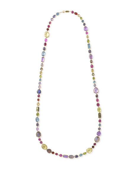 "18k Rock Candy Sofia Necklace in Fall Rainbow, 39""L"