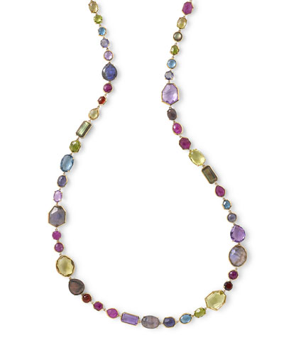 18k Rock Candy Sofia Necklace in Fall Rainbow, 39