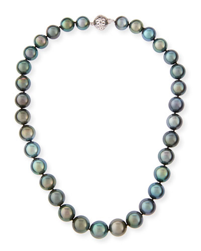 Tahitian Black Pearl Necklace, 18