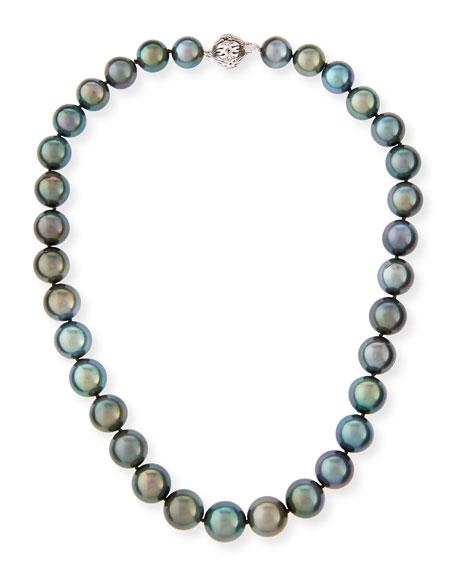 "Tahitian Black Pearl Necklace, 18"""