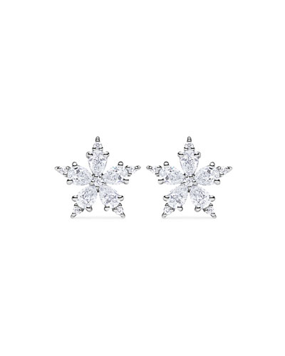 Mini Stellanise Diamond Floral Stud Earrings