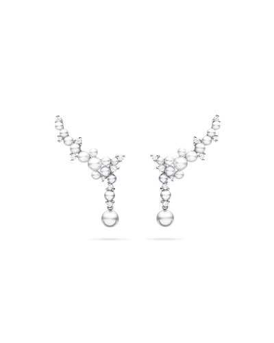 18k Lagrange Pearl Trellis Drop Earrings