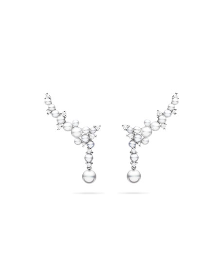 18k Lagrange Pearl Trellis Drop Earrings